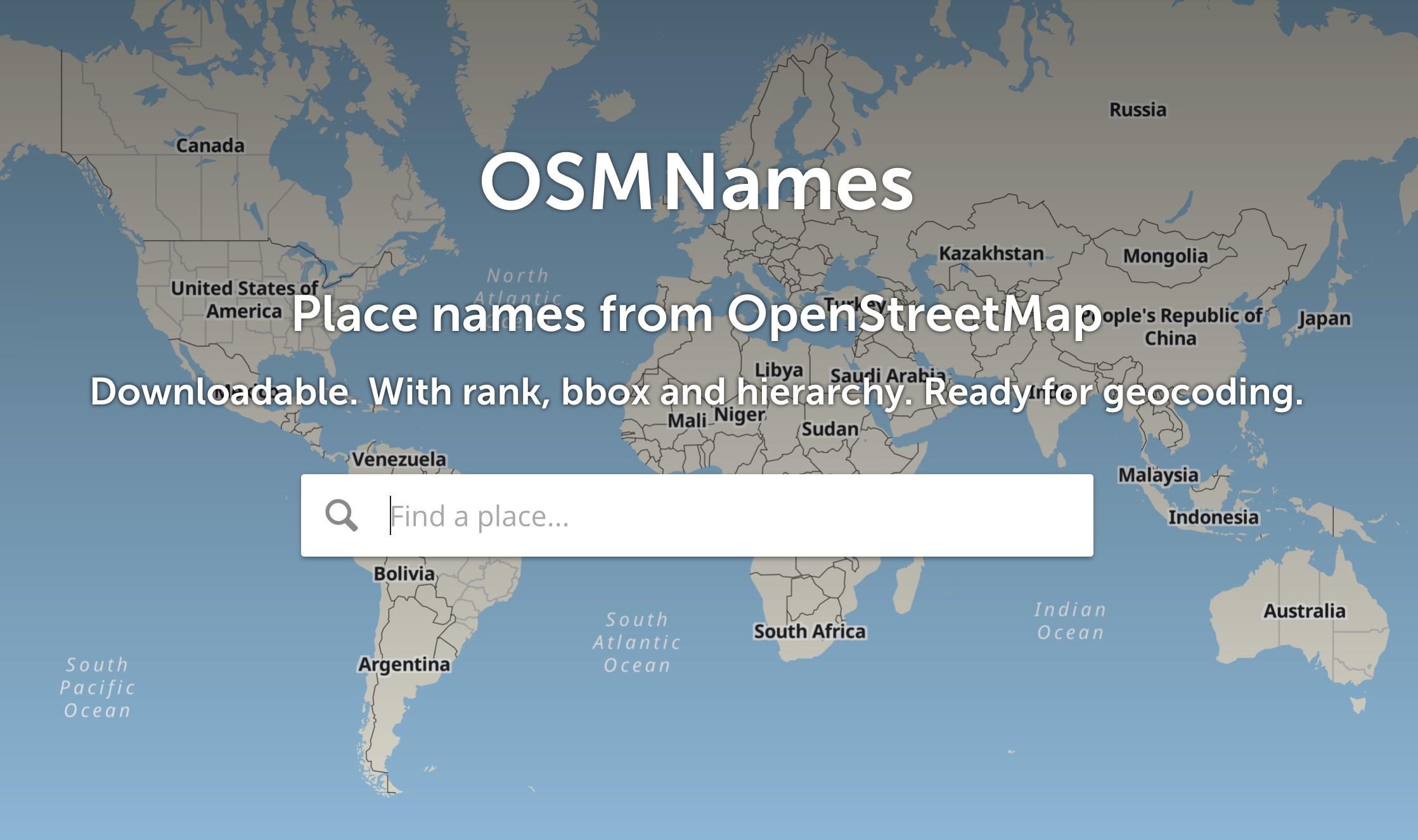 Download – OSMNames